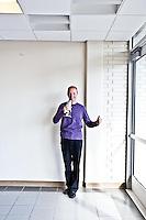 Sebastian Thrun pictures: executive portrait photography of Sebastian Thrun of Udacity, by San Francisco corporate photographer Eric Millette