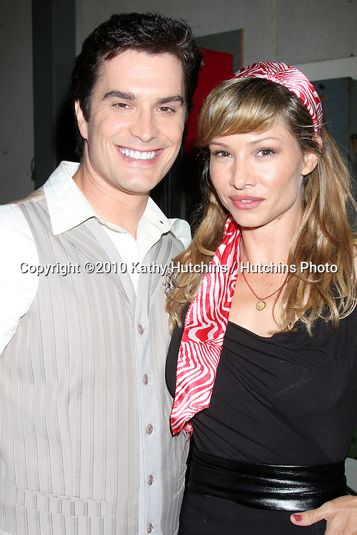 """Rick Hearst, Sarah Brown.Guinness World Records®  presents THE BOLD AND THE BEAUTIFUL with the certification as the  """"Most Popular Daytime TV Soap - Current..Bold & Beautiful Set, Stage 31, CBS Televsion CIty.Los Angeles, CA.May 18, 2010.©2010 Kathy Hutchins / Hutchins Photo.."""
