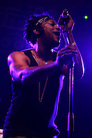 D'Angelo performs after a 12 year hiatus at the 2012 Bonnaroo Music Festival in Manchester, Tennessee. June 10, 2012. Credit: Jen Maler / MediaPunch Inc. NORTEPHOTO.COM<br />