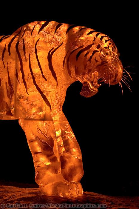 Multi-block ice sculpture. 2004 World Ice Art Championships, Fairbanks Alaska.