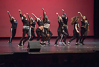 The Dance Collective performs. Occidental College students perform and compete during Apollo Night, one of Oxy's biggest talent showcases, on Friday, Feb. 26, 2016 in Thorne Hall. Sponsored by ASOC, hosted by the Black Student Alliance as part of Black History Month.<br /> (Photo by Marc Campos, Occidental College Photographer)
