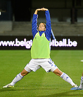 20150922 - LEUVEN ,  BELGIUM : Bosnia and Herzegovina's  Marija Aleksic  pictured during the female soccer game between the Belgian Red Flames and Bosnia and Herzegovina , the first game in the qualification for the European Championship in France 2017  , Thursday 22 September 2015 at Stadion Den Dreef  in Leuven , Belgium. PHOTO DAVID CATRY
