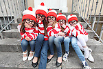 Free Pics     With Compliments<br /> Linda Murphy (age 5), Rebecca Lombard (age 10), Alannah Murphy (age 7), Chelsea Kelleher (age 6) and Ciara Greaney (age 6) pictured as Wally as Cork City was awash with Wallys on Sunday, 4th June 2011 as a striped and spectacled Where&rsquo;s Wally troop from Cork marched up Patrick&rsquo;s Hill with Jack Wise Street Performance World Champion 2010 to launch the Street Performance World Championship event, which takes place in Fitzgerald Park, Cork City on June 11th and 12th. The Wallys were on hand to sit, stand, salute, sing and do a little dance, not only to remind people what a full on fun day out for all the family the SPWC will be but also to launch the Where&rsquo;s Wally World Record attempt, which takes place in Cork on Sunday, 12th June as part of the event&rsquo;s thrill packed programme. People who wish to participate in the Where&rsquo;s Wally World Record attempt in Cork can buy their costume on www.spwc.ie for &euro;12. Profits from the sales of the Wally costumes go to Africa Aware.<br /> Pic. Brian Arthur/ Press 22.