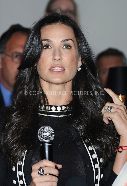 WWW.ACEPIXS.COM . . . . . ....April 30 2009, New York City....Actress Demi Moore attends a press conference to announce the partnership of Cartier with Servicenation at Cartier Mansion on April 30, 2009 in New York City.....Please byline: KRISTIN CALLAHAN - ACEPIXS.COM.. . . . . . ..Ace Pictures, Inc:  ..tel: (212) 243 8787 or (646) 769 0430..e-mail: info@acepixs.com..web: http://www.acepixs.com