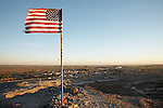 View of the US/Mexico border at Andrade, California.