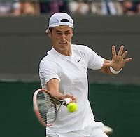 BERNARD TOMIC (AUS)<br /> <br /> The Championships Wimbledon 2014 - The All England Lawn Tennis Club -  London - UK -  ATP - ITF - WTA-2014  - Grand Slam - Great Britain -  25th June 2014. <br /> <br /> © Tennis Photo Network