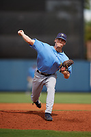 Tampa Bay Rays pitcher Stephen Yancey (50) delivers a pitch during a Florida Instructional League game against the Baltimore Orioles on October 1, 2018 at the Charlotte Sports Park in Port Charlotte, Florida.  (Mike Janes/Four Seam Images)