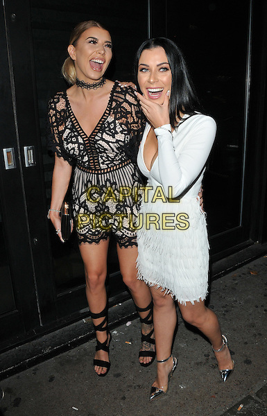 Olivia Buckland and Cally Jane Beech at the Cally Jane by Solewish shoe line collaboration launch party, JuJu, King's Road, London, England, UK, on Tuesday 27 September 2016.<br /> CAP/CAN<br /> &copy;CAN/Capital Pictures