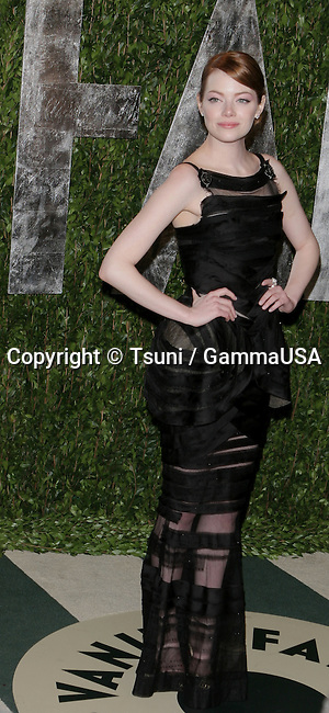 Emma Stone_107  arriving at the Vanity Fair Oscar  Party 2012 - at the Sunset Tower Hotel in Los Angeles.