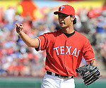 Yu Darvish (Rangers),<br /> SEPTEMBER 29, 2013 - MLB :<br /> Pitcher Yu Darvish of the Texas Rangers during the Major League Baseball game against the Los Angeles Angels at Rangers Ballpark in Arlington in Arlington, Texas, United States. (Photo by AFLO)