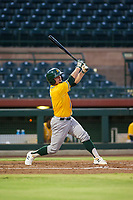 AZL Athletics catcher Cooper Goldby (11) bats during a game against the AZL Giants on August 5, 2017 at Scottsdale Stadium in Scottsdale, Arizona. AZL Athletics defeated the AZL Giants 2-1. (Zachary Lucy/Four Seam Images)