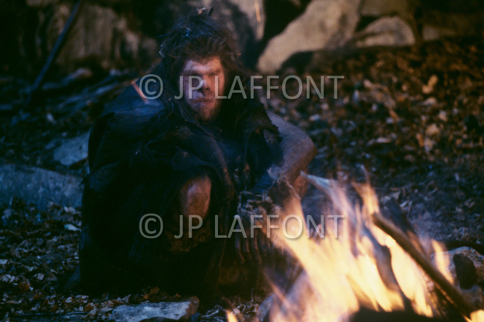 "Toronto area, Canada.1981. 80,000 years ago, the tribe who posessed fire, posessed life. A primitive tribe try to keep a natural fire source for survival.  This part of the movie was filmed in Canada.  ""Quest for Fire"" (La guerre du feu) by French director Jean-Jacques Annaud, and based on the novel of JH Rosny."