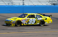 Apr 17, 2009; Avondale, AZ, USA; NASCAR Sprint Cup Series driver Carl Edwards during practice for the Subway Fresh Fit 500 at Phoenix International Raceway. Mandatory Credit: Mark J. Rebilas-