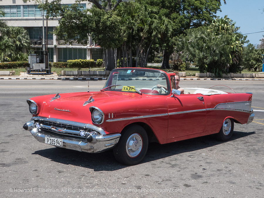 1957 Chevy near Jose Marti Memorial