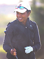 160211 Condoleezza Rice during Thursday's First Round at The AT&T National Pro Am at The Monterey Peninsula CC in Carmel, California. (photo credit : kenneth e. dennis/kendennisphoto.com)