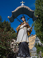 Nepomuk Brunnen in Imst, Tirol, &Ouml;sterreich, Europa<br /> Nepomuk fountain, Imst, Tyrol, Austria, Europe