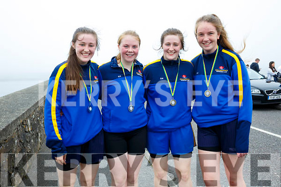 The Callinafercy Minor Ladies crew who finished second to Valentia in Portmagee on Sunday were l-r; Aoife Murphy, Emma Houlihan, Orla Murphy & Sarah Kennedy.