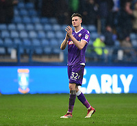 Bolton Wanderers' Reece Burke applauds the fans at the final whistle<br /> <br /> Photographer Chris Vaughan/CameraSport<br /> <br /> The EFL Sky Bet Championship - Sheffield Wednesday v Bolton Wanderers - Saturday 10th March 2018 - Hillsborough - Sheffield<br /> <br /> World Copyright &copy; 2018 CameraSport. All rights reserved. 43 Linden Ave. Countesthorpe. Leicester. England. LE8 5PG - Tel: +44 (0) 116 277 4147 - admin@camerasport.com - www.camerasport.com