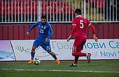 27th March 2018, Karadjorde Stadium, Novi Sad, Serbia; Under 21 International Football Friendly, Serbia U21 versus Italy U21; Forward Daniele Verde of Italy in action against Ethan Masovic of Serbia