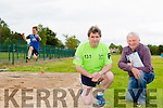 Marcus Howlett and Martin Fitzgerald Chairman of Tralee Harriers showcasing the new facilities courtesy of the Tralee marathon funding on Thurday
