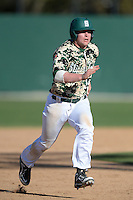 Slippery Rock infielder Preston Falascino (18) during a game against Kentucky Wesleyan College at Jack Russell Stadium on March 14, 2014 in Clearwater, Florida.  Slippery Rock defeated Kentucky Wesleyan 18-13.  (Mike Janes/Four Seam Images)