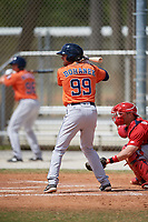 Houston Astros Cody Bohanek (99) during a Minor League Spring Training game against the St. Louis Cardinals on March 27, 2018 at the Roger Dean Stadium Complex in Jupiter, Florida.  (Mike Janes/Four Seam Images)