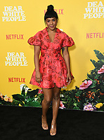 "01 August 2019 - Los Angeles, California - Courtney Sauls. Netflix's ""Dear White People"" Season 3 Los Angeles Premiere held at TRegal Cinemas LA Live. Photo Credit: Birdie Thompson/AdMedia"