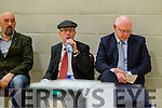 Michael Pixie O'Gorman Michael Healy Rae and John Brassil  at the Kerry General Election Count in Killarney.
