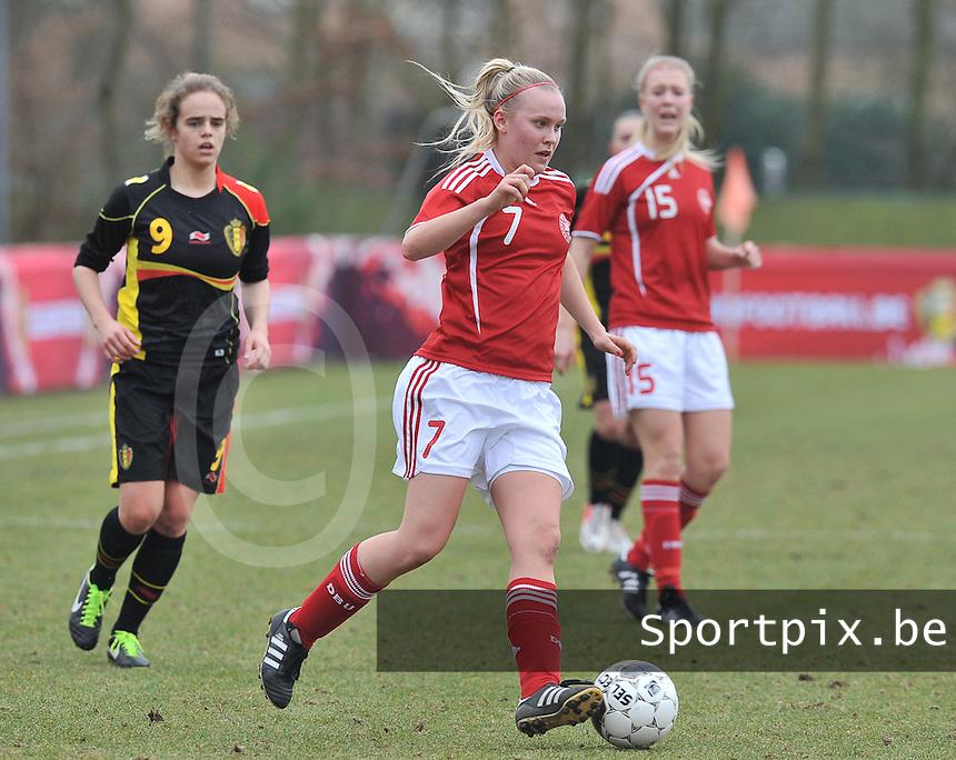 Denmark U17 - Belgium U17 :  Christina Beck.foto DAVID CATRY / Vrouwenteam.be
