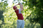 SUGAR GROVE, IL - MAY 31: Brad Dalke of the University of Oklahoma tees off during the Division I Men's Golf Team Championship held at Rich Harvest Farms on May 31, 2017 in Sugar Grove, Illinois. Oklahoma won the team national title. (Photo by Jamie Schwaberow/NCAA Photos via Getty Images)