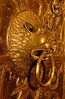 Mariendom, Detail Bronzetür, Hildesheim, Deutschland, Unesco- Weltkulturerbe