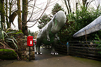 2019 02 21 Dinosaur, Dan Yr Ogof, National Showcaves Centre for Wales, Abercraf, Swansea, Wales, UK