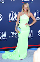 07 April 2019 - Las Vegas, NV - Miranda Lambert. 2019 ACM Awards at MGM Grand Garden Arena, Arrivals. Photo Credit: mjt/AdMedia