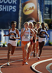 11 JUNE 2010: LaTavia Thomas of Louisiana State and Phoebe Wright of Tennessee lead the pack around the turn in the Womens 800 meter run during the Division I Men's and Women's Track and Field Championship held at Hayward Field on the University of Oregon campus in Eugene, OR.  Steve Dykes/NCAA Photos