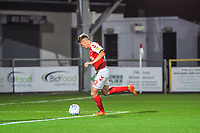 Fleetwood Town's forward Harvey Saunders (32) hits the post during the The Leasing.com Trophy match between Fleetwood Town and Liverpool U21 at Highbury Stadium, Fleetwood, England on 25 September 2019. Photo by Stephen Buckley / PRiME Media Images.