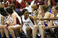 20 March 2006: Candice Wiggins, Kristen Newlin and Krista Rappahahn during Stanford's 88-70 win over Florida State in the second round of the NCAA Women's Basketball championships at the Pepsi Center in Denver, CO.