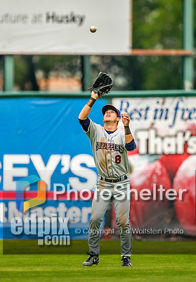 9 July 2015: Mahoning Valley Scrappers outfielder Connor Marabell in action against the Vermont Lake Monsters at Centennial Field in Burlington, Vermont. The Scrappers defeated the Lake Monsters 8-4 in 12 innings of NY Penn League play. Mandatory Credit: Ed Wolfstein Photo *** RAW Image File Available ****