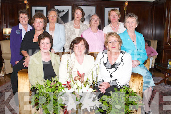 FLORAL ARTISTS: Celebrating 25 years of Friendship through Flowers, at their dinner.at Ballygarry House Hotel & Spa, Tralee, on Monday night. Front l-r: Maura Millar, Kitty.Gallagher (President, Association of Irish Floral Artists), Mary Holly (Chairperson of.Tralee Garden/Flower Club). Centre: Mary C O'Keeffe (Chairperson AOIFA) and Eileen.Phelan. Back l-r: Margaret Groves, Vera O'Connor, Nuala Griffin, Mary Spillane and.Elsie Conroy (committee members).