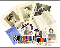 Heroic husband and wife's medals sell.