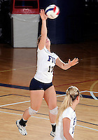 Florida International University women's volleyball player Carolyn Fouts (17) plays against Florida Atlantic University.  FIU won the match 3-0 on October 26, 2011 at Miami, Florida. .