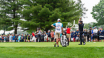 CROMWELL, CT. 20 June 2019-062019 - PGA Tour player Bubba Watson hits his tee shot on the par 3 fifth hole, during the first round of the Travelers Championship at TPC River Highlands in Cromwell on Thursday. Bill Shettle Republican-American