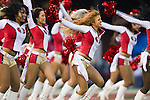 San Francisco 49ers cheerleaders dance during an NFC Championship NFL football game against the New York Giants on January 22, 2012 in San Francisco, California. The Giants won 20-17 in overtime. (AP Photo/David Stluka)