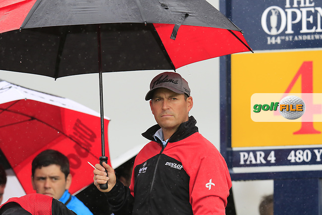 David HOWELL (ENG) prepares to tee off the 4th tee during Sunday's Round  of the 144th Open Championship, St Andrews Old Course, St Andrews, Fife, Scotland. 19/07/2015.<br /> Picture Eoin Clarke, www.golffile.ie