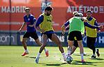 Atletico de Madrid's Marcos Llorente, Diego Costa, Angel Correa, Jose Maria Gimenez and Koke Resurreccion during training session. May 28,2020.(ALTERPHOTOS/Atletico de Madrid/Pool)