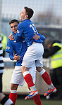 Kal Naismith congratulated on his goal by Barrie McKay