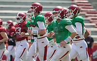 HAWGS ILLUSTRATED JASON IVESTER<br /> Arkansas football practice on Saturday, April 8, 2017, at Donald W. Reynolds Razorback Stadium in Fayetteville