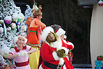 The Grinch performing with the Whos in Whoville at Grinchmas at Universal Studios Hollywood in Los Angeles, CA