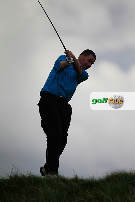 Damien Coyne (Tuam) on the 6th tee during the South of Ireland Amateur Open Championship First Round at Lahinch Golf Club  27th July 2013 <br /> Picture:  Thos Caffrey / www.golffile.ie