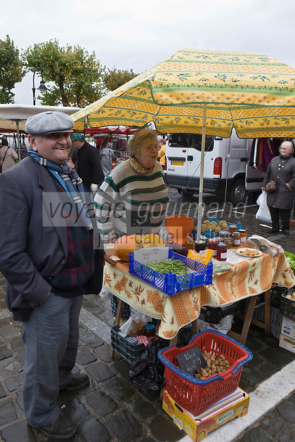 Europe/France/Picardie/80/Somme/Baie de Somme/ Saint-Valery-sur-Somme : sur le marché