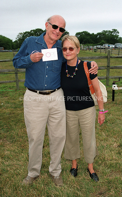"Peter Boyle and wife at the Fifth Annual ""Super Saturday"" designer sale and family event to benefit the ovarian cancer research fund. Water Mill, Long Island. July 27, 2002. Please byline: Alecsey Boldeskul/NY Photo Press.   ..*PAY-PER-USE*      ....NY Photo Press:  ..phone (646) 267-6913;   ..e-mail: info@nyphotopress.com"